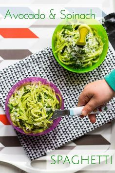 Spaghetti served in a delicious, creamy and healthy sauce. Great for kids