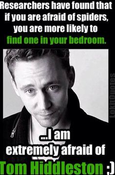 Oh yes, I haven't enough words to describe how afraid I am of Tom Hiddleston :)