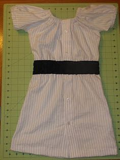 Diary of a Crafty Lady: Repurposed Men's Dress Shirt into Girl's Dress.