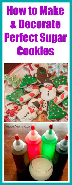Making & Decorating Perfect Sugar Cookies. Everything you need to know from dough, baking, decorating and making icing for homemade sugar cookies