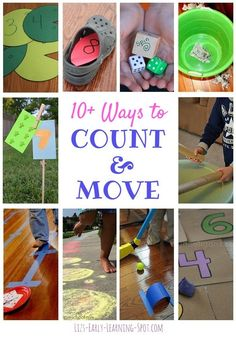 10 Ways to Count and Move - add gross motor to math practice!