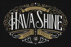 Hava Shine Typeface by Jiw on @creativemarket
