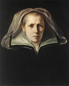 Portrait of the Artist's Mother (Ginevra de' Pozzi) by Guido Reni (Italian, ~ Guido Reni was an Italian painter of high-Baroque style born in Bologna Famous Artists, Great Artists, Potrait Painting, Woman Painting, Italian Paintings, Classic Paintings, Italian Baroque, Sad Faces, Baroque Fashion