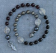 Samhain Thru the Veil, Pagan Prayer Beads, Witches Ladder, Witches Rosary, Witches New Year