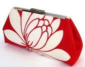 Red Clutch Linen Lotus Flower - Made to Order by UPSTYLE. $75.00, via Etsy.