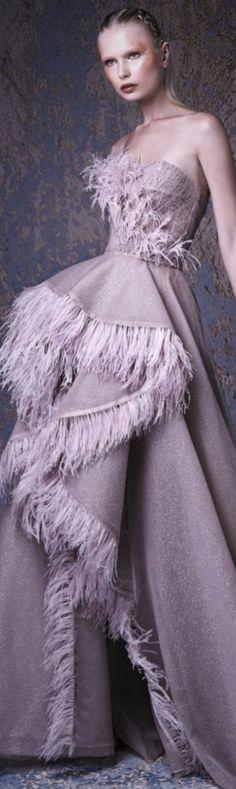 Gaby Charbachy 2019 Grey Fashion, Fashion 2018, Fashion Dresses, Lavender Gown, Lace Ruffle, Ruffles, Stunning Dresses, Formal Dresses, Wedding Dresses