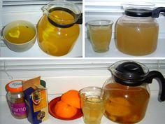 Horké ovocné čaje a další nápoje: Tekutiny potřebujeme i v zimě Hot Sauce Bottles, Syrup, Lemonade, Cantaloupe, Menu, Pudding, Fruit, Desserts, Food
