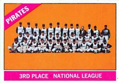 1966 Pittsburgh Pirates pictorial roster National League, National Football League, Baseball Card Values, Pittsburgh Pirates Baseball, Virtual Card, Player Card, Team Pictures, Mlb Teams, Baseball Games