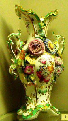Coalbrookdale ware vase, 1830-1840.