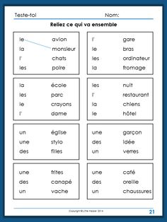 French greetings worksheet google search french greeting and test your french activities to practice french gender articles and plural 20 worksheets plus answer key m4hsunfo