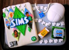 The Sims 3 cake!! Omg this is awesome!!