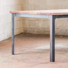 The Kindred Dining Table: Industrial Legs by boldmfg on Etsy