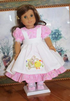 American Girl Easter Pinafore Dress por RuthielovestoSew en Etsy