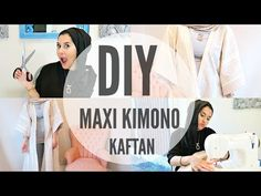 DIY | MAXI KIMONO KAFTAN / ABBAYA FOR BEGINNERS - YouTube