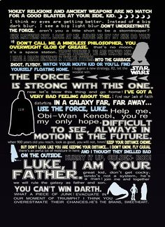 star wars funny quote print 12x18. $15.00, via Etsy.