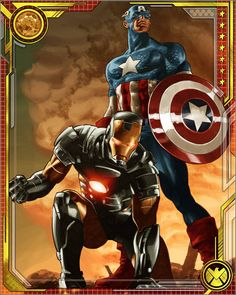 Iron Man and Captain America by Mike Deodato Jr.
