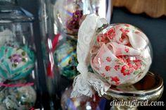 DIY Vintage Handkerchief Ornaments