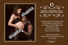 Photo baby shower invitations. Any color scheme. Design online, print immediately!