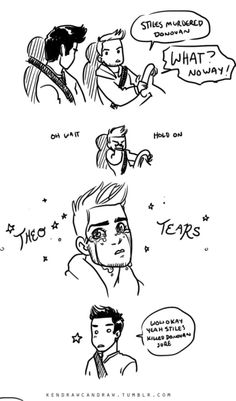 Teen Wolf fanart comic Theo Raeken's method of lying