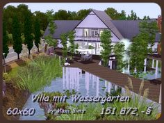 Small villa with a water garden and Sandra by Maxi Sims - Sims 3 Downloads CC Caboodle