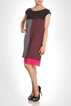 Colour block shift dress. Shop Now: www.kimaya.in