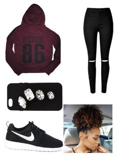 """""""idk"""" by gabrielle-dixon ❤ liked on Polyvore featuring Victoria's Secret, NIKE and STELLA McCARTNEY"""