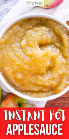 Instant Pot Applesauce is so easy! Made with apples, water, lemon juice, and a few optional additional flavors, in under 30 minutes you'll have tasty applesauce that is WAY better than store-bought. Healthy Family Meals, Healthy Breakfast Recipes, Snack Recipes, Nutritious Snacks, Healthy Snacks, Pressure Cooker Applesauce, Cooked Apples, Food Website, Instant Pot