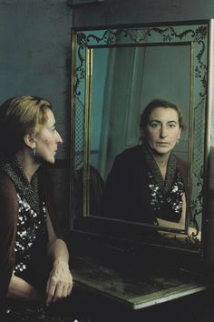 """miuccia prada in """"how many people does it take to design a dress?"""" by annie leibovitz for vogue september 2000"""