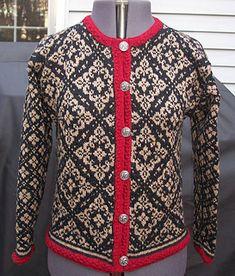 Ravelry: 12614 Ingeborg pattern by Dale of Norway / Dale Design Fair Isle Knitting, Easy Knitting, Knit Jacket, Knit Cardigan, Motif Fair Isle, Norwegian Style, Norwegian Knitting, Knitting Machine Patterns, Pullover