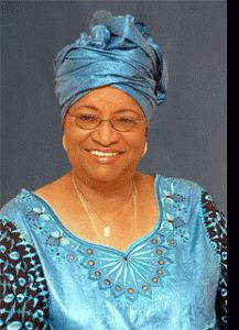 Ellen Johnson Sirleaf ...President of Liberia She was awarded the Nobel Peace Prize for her work on the rights of women and her role in ending the country's civil war.