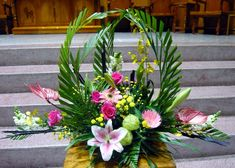 Easter Flower Arrangements, Creative Flower Arrangements, Funeral Flower Arrangements, Beautiful Flower Arrangements, Flower Centerpieces, Flower Decorations, Floral Arrangements, Beautiful Flowers, Altar Flowers