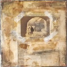 'The Harbour'. Encaustic collage by Jo Archer.  I want to play with encaustics, but I am a bit intimidated
