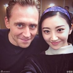 Chinese actress Jing Tian, who is currently filming Kong: Skull Island with Tom Hiddleston posted several selfies with the British actor to wish him a happy birthday.  http://www.chinaentertainmentnews.com/2016/02/chinas-jing-tian-posts-selfies-with-tom.html