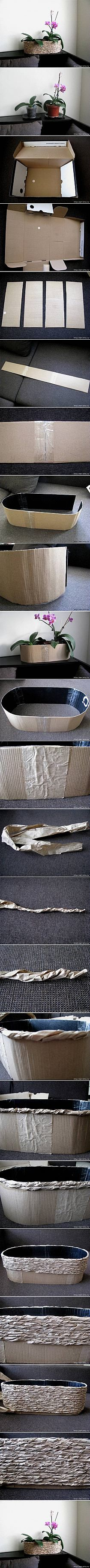 DIY Cardboard and Packaging Paper Plant Pot DIY Project…