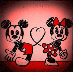 Mickey and Minnie Mouse- True Love- Disneyland