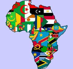 """African countries flags icons set african countries territories with african map and countries flags vector africa country flag africa mapRead More """"African Countries Map Flags"""" Africa Flag, Afrique Art, Africa Destinations, Countries And Flags, Les Continents, African Nations, African Union, Art Africain, Country Maps"""