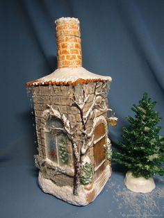 бутылка-светильник - купить или заказать в интернет-магазине на Ярмарке Мастеров | Бутылка-светильник дополнит праздничное…