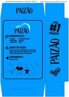 Uau! Veja o que temos para Caixa Paizao Dia dos Pais - Azul Menino 2-2 Birthday Box, Cristiano, Silhouette Projects, Dads, Paper Crafts, Clip Art, Entertaining, Education, Logos