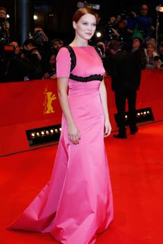"""Léa Seydoux in Prada at the premiere of """"The Grand Budapest Hotel"""""""