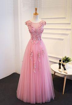 Charming Prom Dress,Tulle Prom Dress,Elegant Prom Dresses,Floor Length