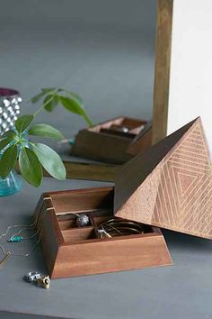 ARTS THREAD X UO Make It Wooden Pyramid Jewelry Box - Urban Outfitters