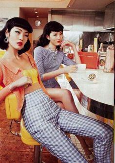 Chiharu Okunugi and Sayo by Sylvie Malfray for Voguegirl Japan