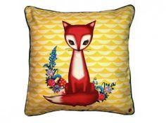 Foxy fox pillow