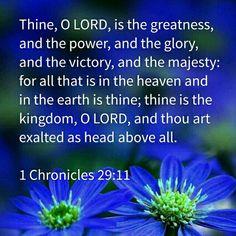1 Chronicles 29:11 KJV