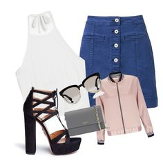 Summer back outfit 😕😕 by supaaaawomen on Polyvore featuring polyvore, fashion, style, Monki, Miss Selfridge, Witchery, Aquazzura, DKNY, Christian Dior and clothing