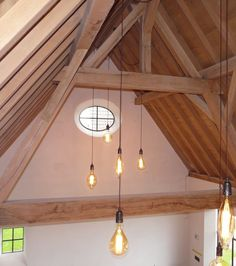 Lombre.be - Exclusieve verlichting Vaulted Ceiling Lighting, Barn Renovation, Interior Garden, Interior Design Living Room, Interior Inspiration, Sweet Home, Room Decor, Houses, Salons