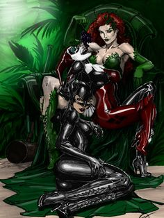 #Sirens #Fan #Art. (IVY, HARLEY AND CATWOMAN colors) By: CThompsonArt.