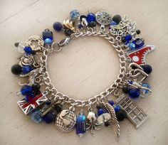 Doctor Who Companion Bracelets ~ & Ultimate Companion Versions! - JEWELRY AND TRINKETS - A while back I posted a Doctor's Companion Charm Bracelet. I made it as an entry in one of Craftster's Jewelry Challenges. Dr Who, Moda Geek, Do It Yourself Jewelry, Tenth Doctor, Geek Out, Tardis, Sherlock, Just In Case, At Least