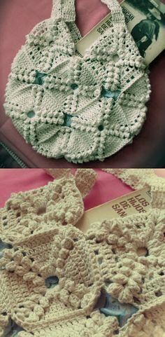 Tus Manos y las Mias: BOLSO TEJIDO crochet bag