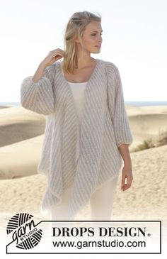 A soft and delicate #jacket, perfect match to a white top, jeans and peep toe flats! #knitting #ss2014